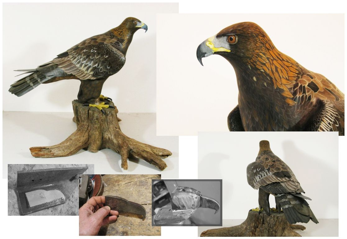 l'aigle royal, the golden eagle, sculpture  83 cm