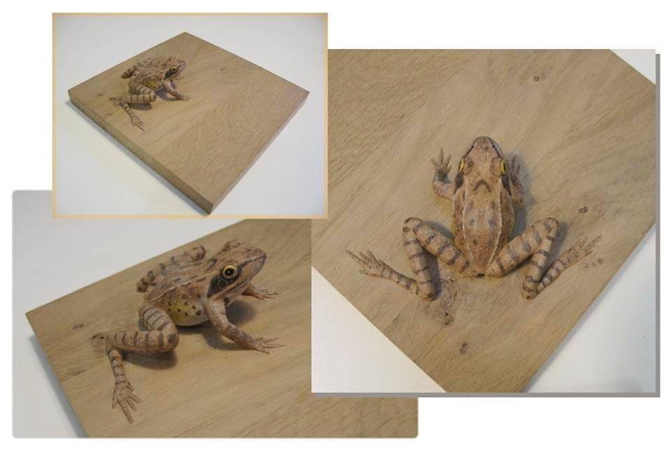 sculpture grenouille agile agile frog