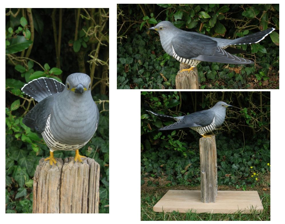 le coucou gris, the cuckoo, sculpture