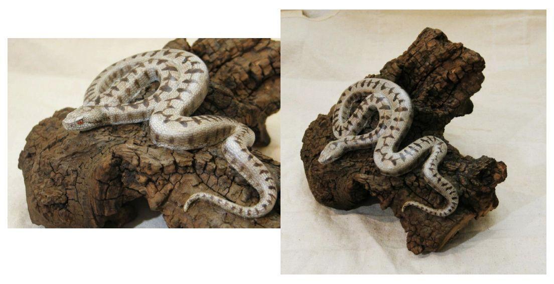 la vipère aspic, the asp viper, sculpture