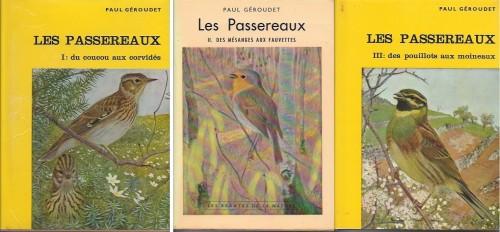 Paul Géroudet, Les Passereaux d'Europe, Delachaux et Niestlé