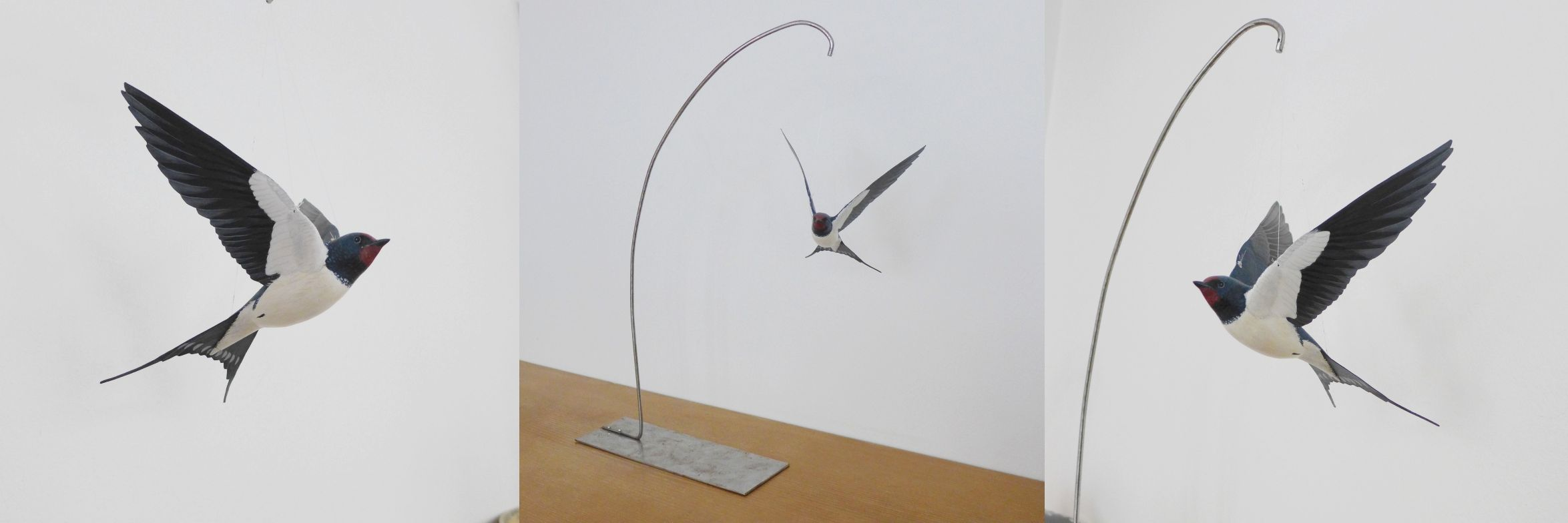 l'hirondelle rustique, the barn swallow, sculpture