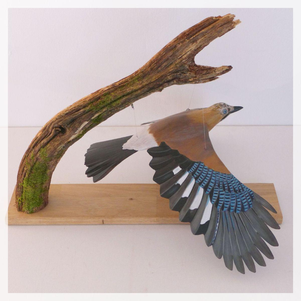 sculpture geai des chêne eurasian jay