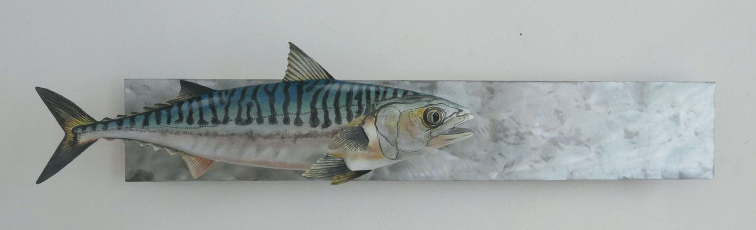 sculpture, un maquereau commun, an atlantic mackerel