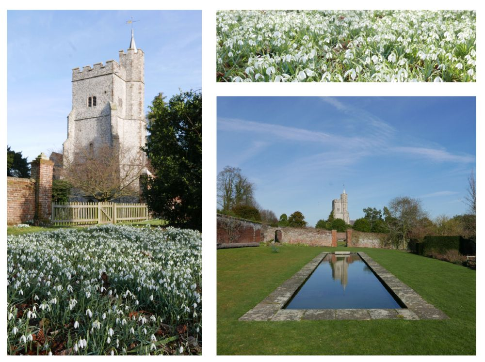 eric billion, goodnestone gardens, snowdrops and church