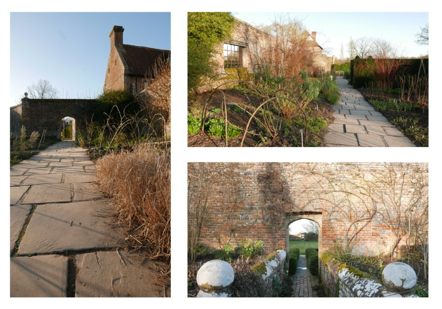 eric billion, sunlights in February, at sissinghurst garden