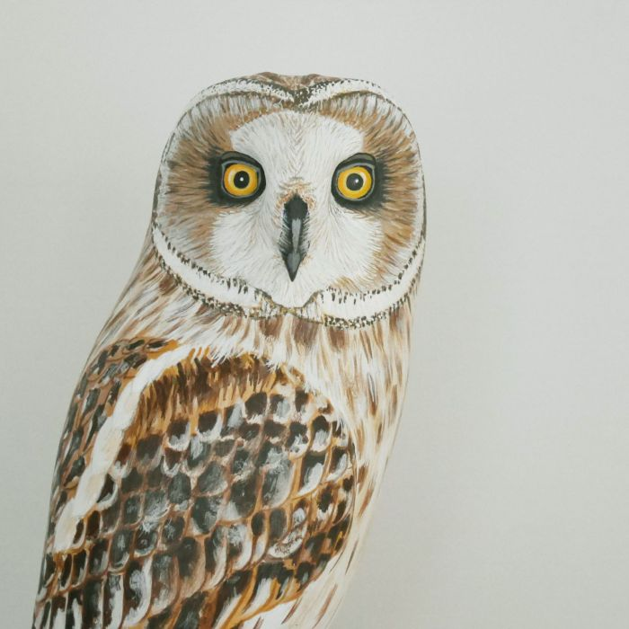 the short-eared owl | le hibou des marais, sculpture