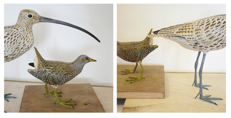 the eurasian curlew | le courlis cendré, sculpture