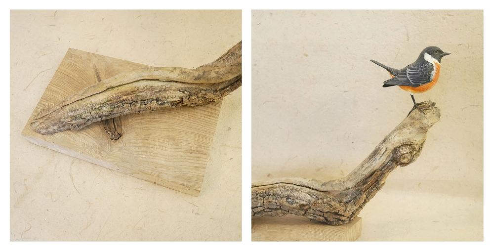 the european stonechat | le tarier pâtre, 13 cm