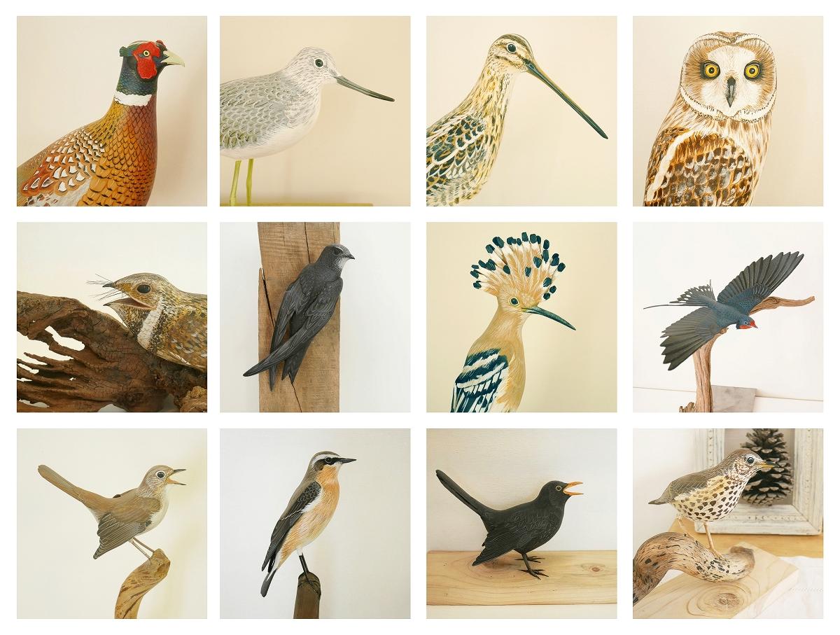 Some birds sculptures